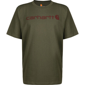 Carhartt Core Logo T-Shirt Men, olivine heather